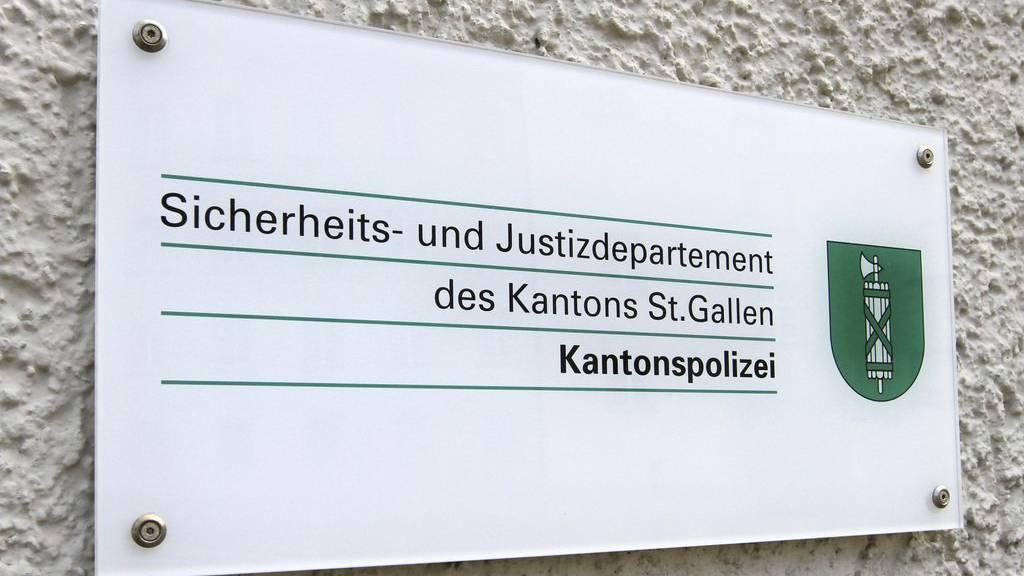 Kantonspolizei in St.Gallen, Schweiz - Kantonspolizei in St.Gallen, Schweiz (KEYSTONE/CHROMORANGE/Ernst Weingartner)