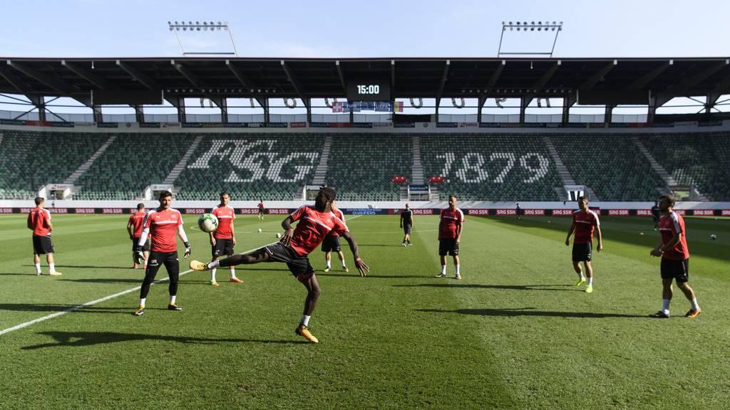 Die Schweizer Nationalmannschaft trifft im Kybunpark auf Georgien. (Archivbild)