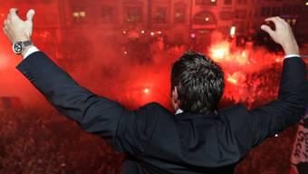 So lässt sich der FCB von seinen Fans feiern