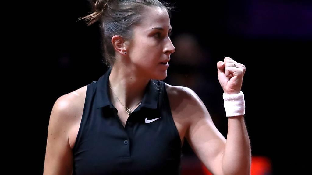 Belinda Bencic verhinderte eine Überraschung der 17-jährigen WTA-Debütantin Schunk
