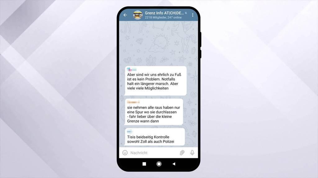 Grenzkontrolle: Telegram-User warnen sich gegenseitig