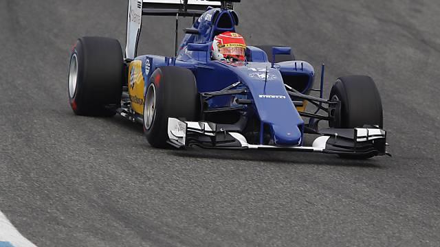 Nur Bottas und Vettel vor Felipe Nasr im Sauber