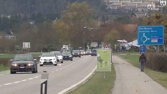 Hier gibts viel Verkehr: Autobahnzubringer in Grenchen.