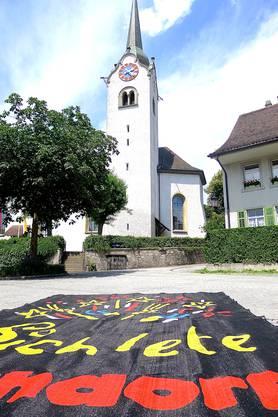 Der Kirchturm dient während dem Fest als Aussichtspunkt