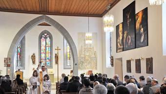 Feierliche Atmosphäre am Sonntag: Die Kirche St. Pankratius wird nach der Renovation mit einem Gottesdienst eingesegnet.