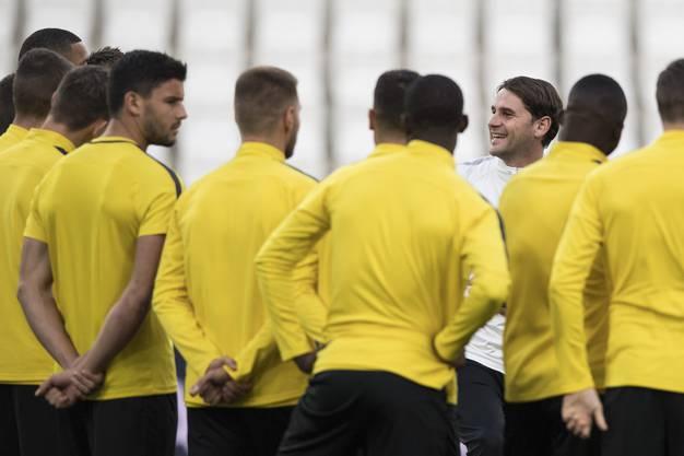 Impressionen vom Berner Abschlusstraining vor dem Spiel Juventus gegen YB.