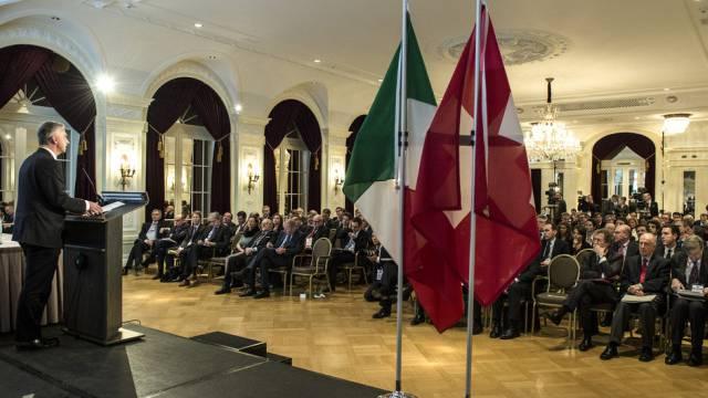 Bundespräsident Didier Burkhalter spricht in Bern