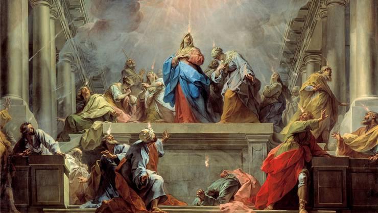 Die Ausgiessung des Heiligen Geistes an Pfingsten. AKG
