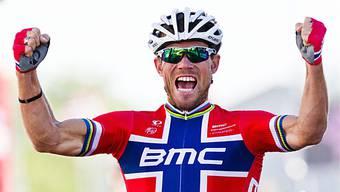Thor Hushovd feiert im Spurt den 8. Saisonsieg für das BMC-Team.