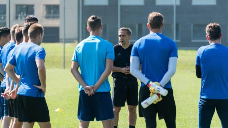 Ranko Jakovljevic leitete am Dienstag zum ersten Mal das Training des FC Wohlen.