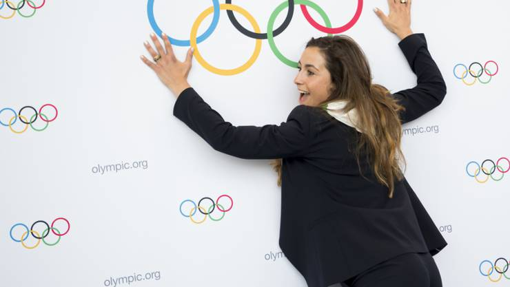 Bereits im Olympia-Fieber: Italiens Skistar Sofia Goggia nach dem Sieg von Mailand-Cortina