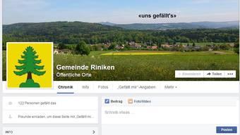 Facebook-Auftritt der Gemeinden im Bezirk Brugg