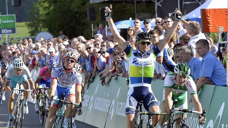 Sieg Nummer zwei: 2013 gewann Michael Albasini in Gippingen.