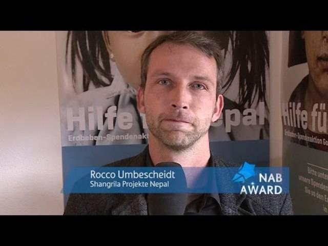 NAB-AWARD 2015 - Rocco Umbescheidt (Kandidat)