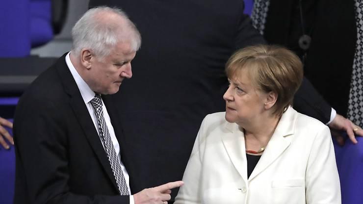Kanzlerin Angela Merkel (CDU) und Innenminister Horst Seehofer 8CSU) sind sich in freundlicher Feindschaft verbunden.