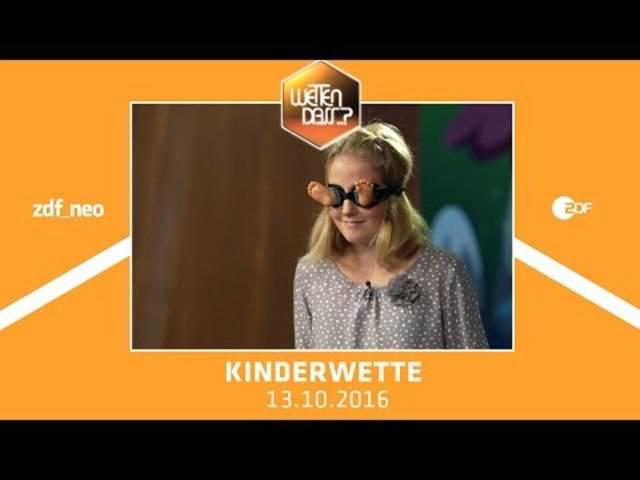 Kinderwette - Wetten dass...? vom 13.10.2016  | NEO MAGAZIN ROYALE mit Jan Böhmermann - ZDFneo