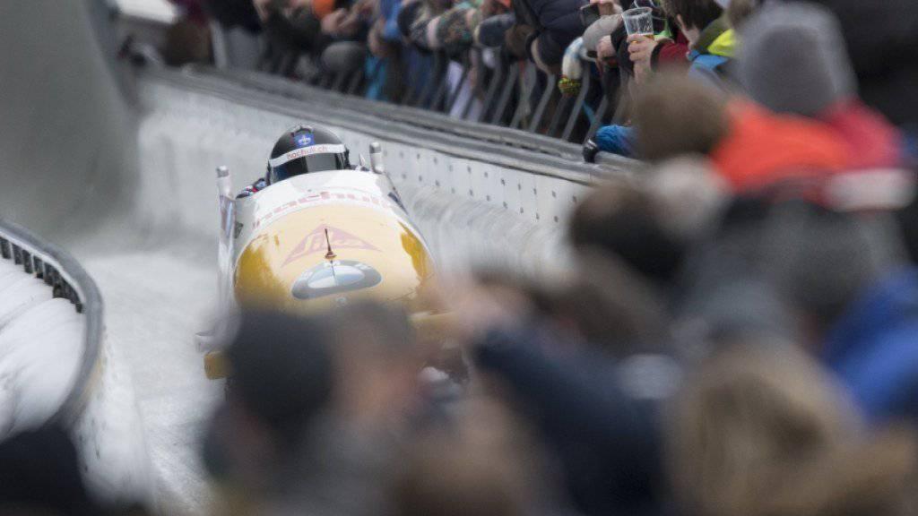 Die vielen WM-Zuschauer in Oberbayern inspirierte die Crew vom Bobsleigh «Schweiz 1» nicht nach Wunsch