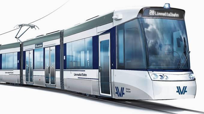Weil die «Aargau Verkehr AG (AVA) die Limmattalbahn betreibt, ist ihr Logo auf den Führerkabinen zu sehen. Die prominente Platzierung kommt in Zürich nicht gut an. So werden die Waggons der Limmattalbahn innen aussehen. Aus Kostengründen kommt das Design von Aargau Verkehr zur Anwendung.