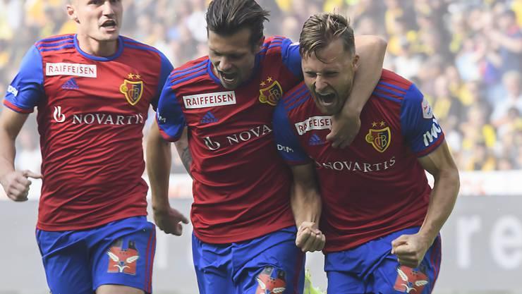 Silvan Widmer (rechts) brachte den FC Basel früh 1:0 in Führung