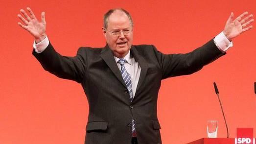 Kanzlerkandidat Peer Steinbrück. Noch 17 Prozent sind für ihn.