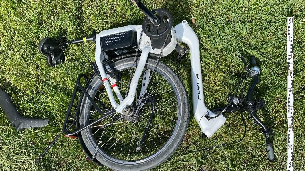 Das E-Bike des Pensionärs war nach dem Unfall nur noch Schrott.