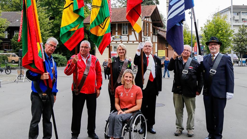 Paralympisches Edelmetall auf dem Krienser Stadtplatz