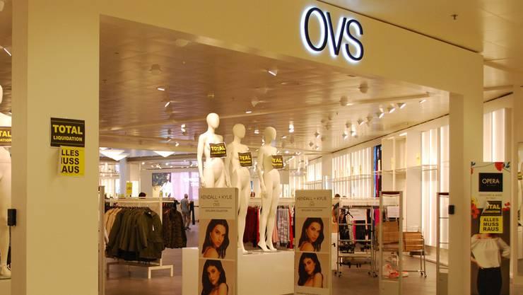 Noch bis Mittwoch ist die Filiale von OVS im Perry Center geöffnet.