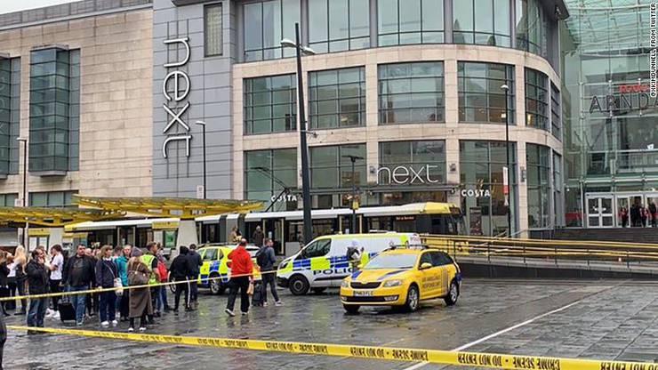 Das betroffene Einkaufszentrum in Manchester.