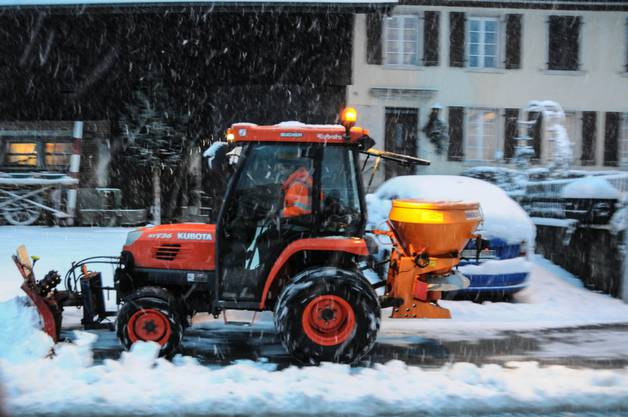 Schneeräumer in Ammerswil.