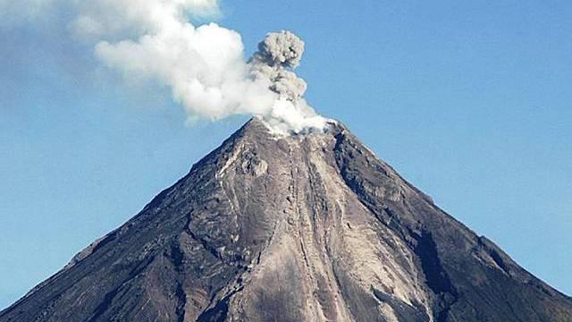 Brodelnder Vulkan Galera in Kolumbien
