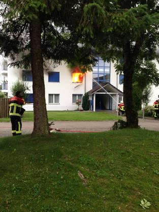 Brand in einem Wohnhaus in Büttikon.