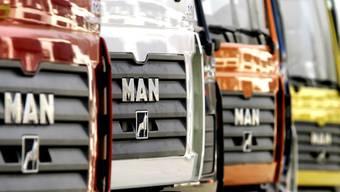 Der Lastwagenbauer MAN will künftig Elektro-Trucks bauen. (Archiv)