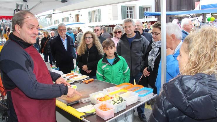 Danach sehnt sich Rolf Senger: Auf einem Markt zu stehen.