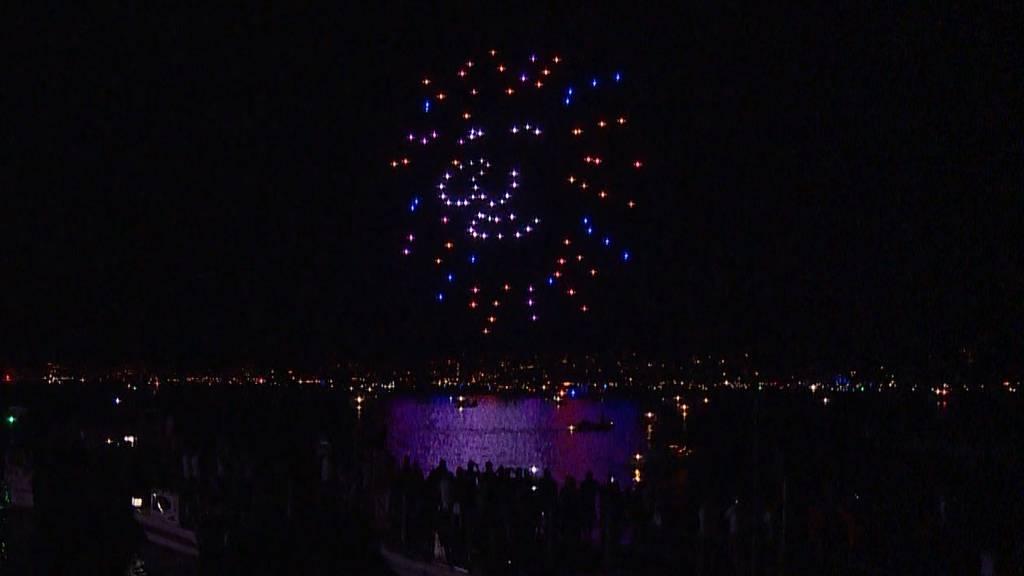 Neue Licht-Show am Zürcher Nachthimmel: Drohnenshow begeistert Zuschauer