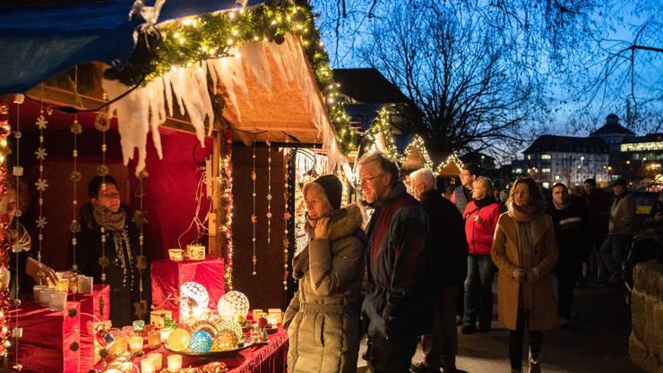 Soledurner Wiehnachtsmäret 2019: Am Abend kommt so richtig Weihnachtsstimmung auf.