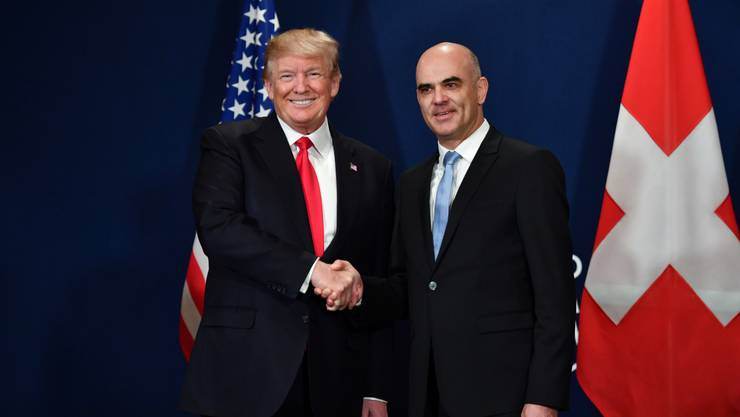 Januar 2018: Donald Trump (rechts) und Alain Berset am WEF 2018.