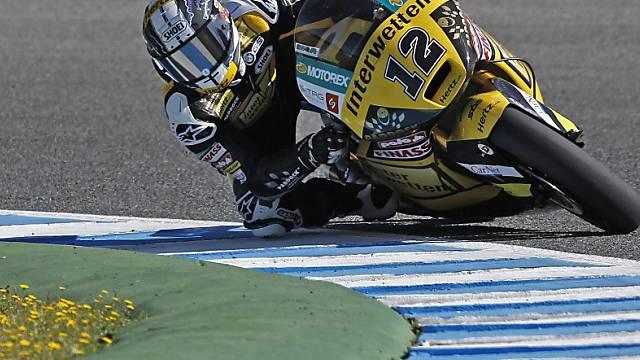 Tom Lüthi am ersten Trainingstag auf dem Circuito de Jerez.