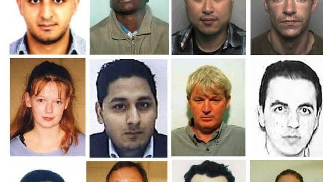 Fahndungsfotos von britischen Steuerflüchtlingen