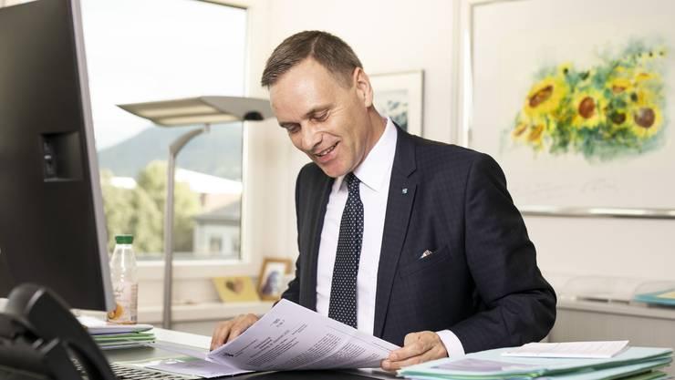 Jean-Pierre Gallati wurde im November 2019 zum Gesundheitsdirektor gewählt – und will das auch bleiben.