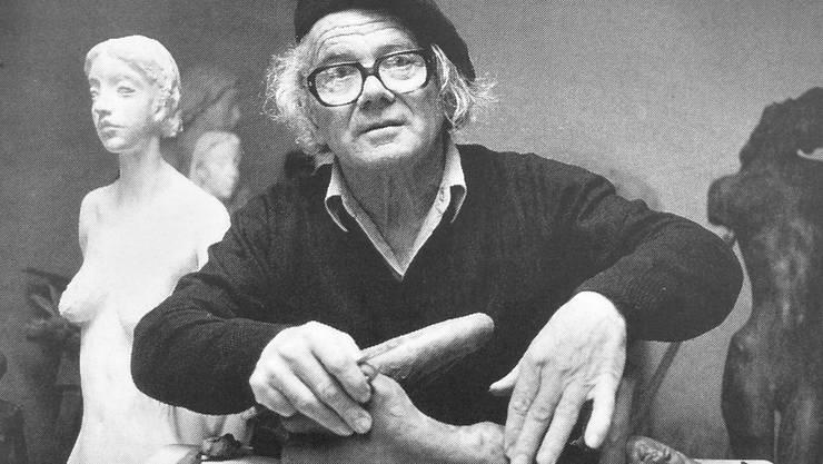 Heinz Schwarz, abgebildet im Katalog zur Retrospektive seines Werks im Kunstmuseum Solothurn 1992.