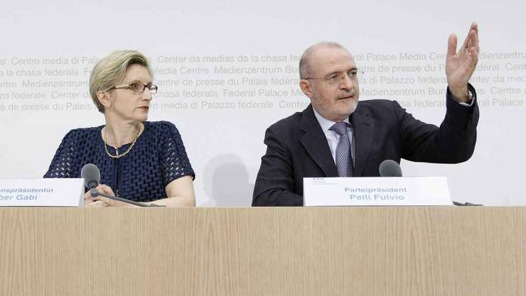 FDP-Sptize: Gabi Huber und Fulvio Pelli