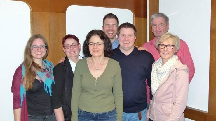 (v.l.n.r) Victoria Hermes, Miriam Studer, Judith Hermes, Steve Minery, Peter Mathis, Jörg Pfister und Erika Ghirlanda