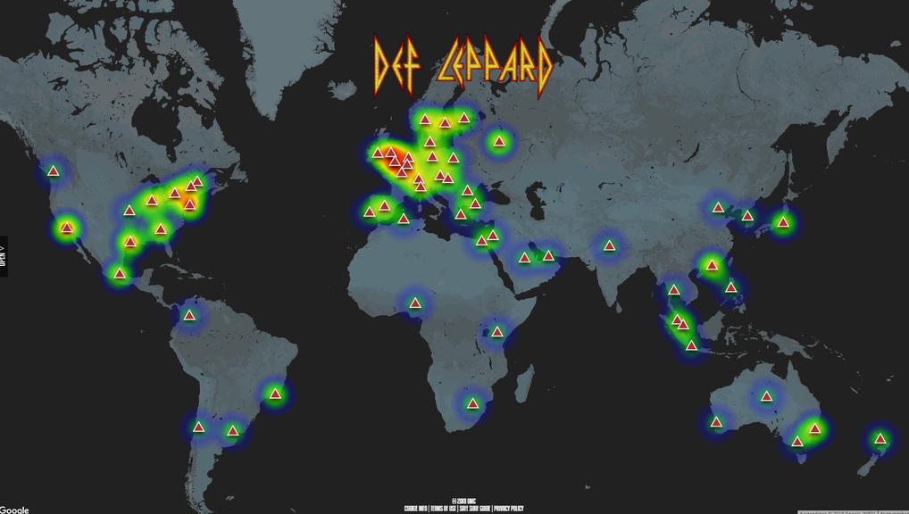 Streaming Karte Def Leppard