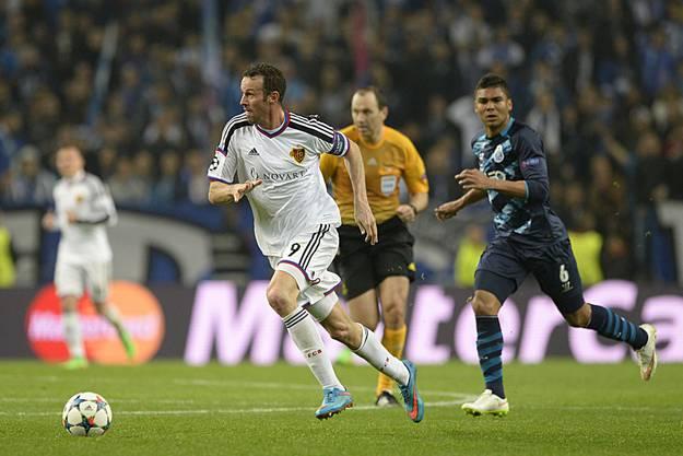 Kein erfreulicher Abschied von der europäischen Bühne: Marco Streller während seines letzten Champions-League-Spiels der Karriere