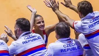 Brachte Tschechien im Fed Cup in Stuttgart gegen Deutschland 2:0 in Führung: Karolina Pliskova
