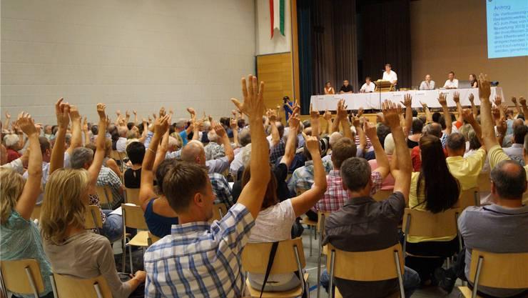 Wuchtiges Nein in der gut gefüllten Mehrzweckhalle Niederwil; 199 der 1849 Stimmberechtigten besuchten die Sommergmeind.