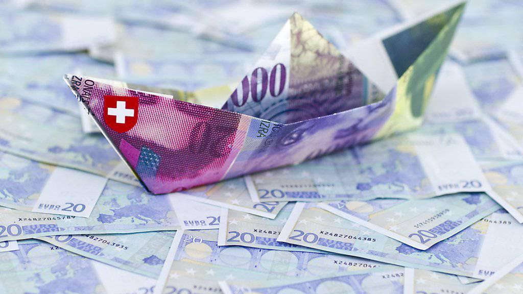 Ruhigeres Fahrwasser für die SNB: Sie musste 2018 in deutlich kleinerem Umfang Fremdwährungen kaufen als noch 2017. (Themenbild)