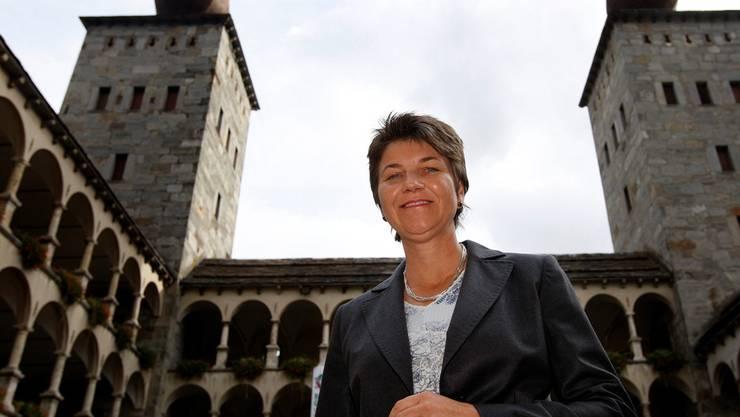Von der Vergangenheit eingeholt: Viola Amherd 2008 nach der Bestätigung als Stadtpräsidentin von Brig.Jean-Christophe Bott/Keystone
