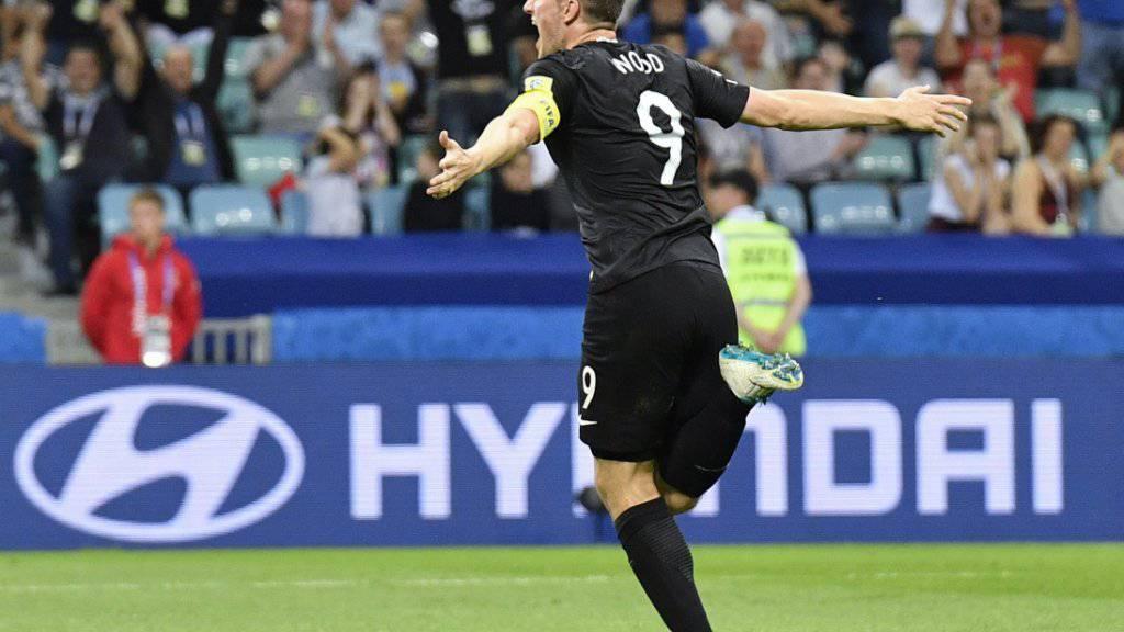 Chris Wood erzielte bei Neuseelands 6:1-Sieg gegen die Salomon-Inseln drei Tore