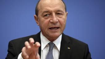 Der rumänische Präsident Traian Basescu (Archiv)